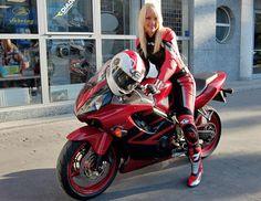 women on sportbikes - Yahoo Search Results Female Motorcycle Riders, Motorcycle Suit, Motorbike Girl, Ducati Monster, Ducati 1299 Panigale, Motard Sexy, Biker Gear, Hot Bikes, Lady Biker