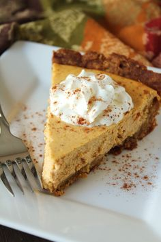 Low-Fructose Pumpkin Cheesecake from Delicious as it Looks