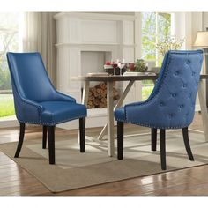 Chic Home Faux Leather Upholstered Taylor Dining Chairs In Navy (Set Of Linen Dining Chairs, Mismatched Dining Chairs, Dining Chair Set, Dining Table, Coastal Furniture, Living Room Furniture, Modern Furniture, Side Chairs, Upholstery