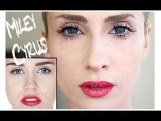 "Miley Cyrus Wrecking Ball Makyajı ""Miley Cyrus Make-up tutorial"" - YouTube"