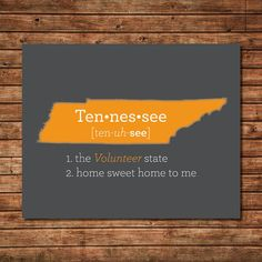 Tennessee Art  TN Print  Map  State Art  State Love by JusttheWord, $15.00