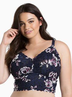 1608bda726750a Floral Print Crop Lace Bralette