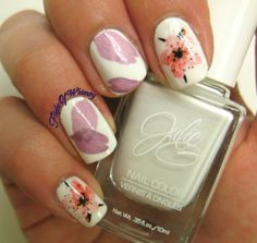 Real flower nails