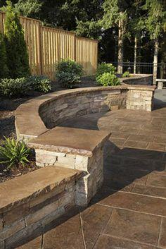 how to build a concrete block garden wall