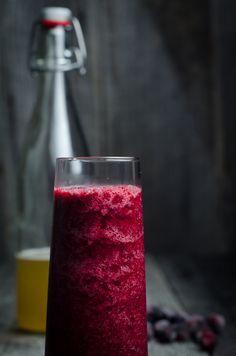 cranberry kombucha slush