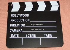 Hollywood Director's Film Movie Slateboard Clapper Rock Ridge Magic http://smile.amazon.com/dp/B000IT1EEO/ref=cm_sw_r_pi_dp_f9RAub1200CTJ