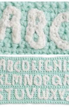 A to Z in Crochet How to do letters.  Free Tutorial. ~Teresa Restegui~