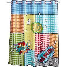 Kids Shower Curtain, $32  Kids Shower Curtain