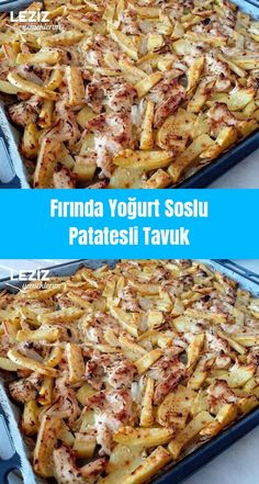 Baked Yogurt Sauce Chicken with Potatoes - My Delicious Food - Pin Picks📌 Yogurt Sauce, Chicken Potatoes, Cannoli, Turkish Recipes, Homemade Beauty Products, Chicken Recipes, Pork, Food And Drink, Yummy Food