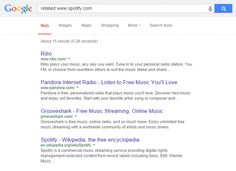 Google Search allows users to search for other websites that are similar to a specific web...