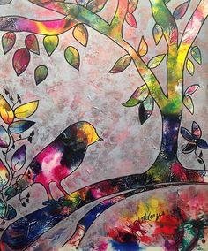 VENDEN pintura de aves arte original por Heather McKenzie