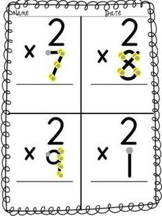 Multiplication: Single Digit-Skip Counting Point and Press Extra Large for Touch School Tool, School Stuff, Touch Point Math, Multiplication Practice, Skip Counting, Smart Cookie, Teaching Kids, Kid Stuff, Worksheets