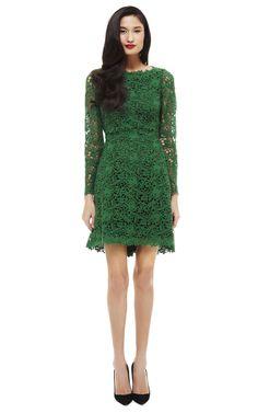 Green Valentino Lace Dress