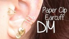 diy rings with paper clips - YouTube
