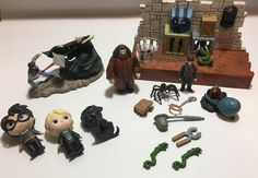 HP mini figures, Hallmark ornament, and playset