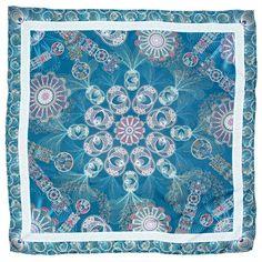 Mascada con diseño inspirado en la Filigrana color turquesa. Disponible en nuestra tienda on line! http://pinedacovalin.com/descripcion.php?p=170=1=1=105