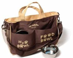 Dog Travel Bag holds your dog's traveling necessities.  Grab it  & go!