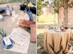"Romantic Scottish Wedding Inspiration from the ""Outlander"" - outlander guest book table"