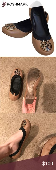 Tory burch flats I love these-- hard to let go. Still good condition. Posted a few pics of any slight wear and tear. Honestly once on, they look in great condition; you can't notice any flaws. Please ask questions and open to reasonable offers Tory Burch Shoes