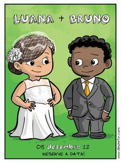 Ilustração para noivos  casamento . wedding