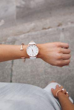 Candice Watch - White