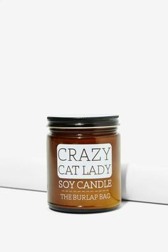 The Burlap Bag Crazy Cat Lady Soy Candle