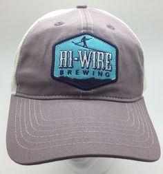 NWOT Hi-Wire Brewing Beer Snapback Mesh Cap Hat OSFA  Brewery  TruckerHat   0e9a0b9d88d3