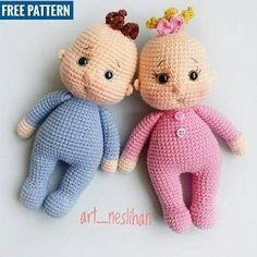 Best 11 38 Beautiful AMIGURUMI Crochet TOYS For Your Baby or Kids 2019 Part amigurumi for beginners easy; amigurumi for girls free pattern; amigurumi for beginners tutorials – SkillOfKing. Crochet Amigurumi Free Patterns, Crochet Bear, Crochet Doll Pattern, Baby Knitting Patterns, Baby Patterns, Doll Patterns, Free Crochet, Crochet Animals, Free Knitting