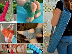 Yoga Crochet Free Patterns - including Socks, Yoga Mats and Bags.
