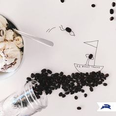Adventures begin with some sweet inspiration. National Coffee Day, Eating Ice Cream, Art Object, Food Art, Zentangle, Delicate, In This Moment, Creative, Sweet