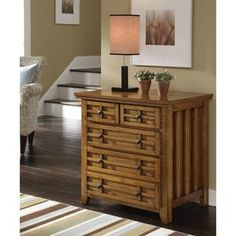 Home Styles Arts and Crafts Expand-A-Desk Credenza with 2 Drawer