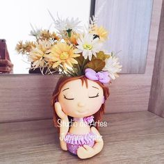Diy Bottle, Bottle Crafts, Painted Plant Pots, Small Sculptures, Ceramic Planters, Container Plants, Paper Mache, Ceramic Art, Tinkerbell