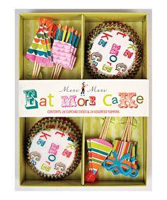Take a look at this Meri Meri Eat More Cake Cupcake Kit by Meri Meri on #zulily today!