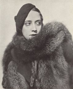 Elsa Schiaparelli...I wish it was okay to wear fur like this.  Curse you, PETA.
