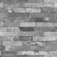 Rasch Factory 2 7-475135 silber-grau Vliestapete Stein-Mauer