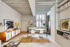 Este adorável apartamento é uma concepção da designer de interiores Tatiana Nicol. Localizado na romântica Paris e com apenas 50 metros quadrados, o aparta