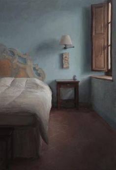 """Kenny Harris """"Tuscany series: The Blue Walls"""",2013,oil on canvas,44 x 30"""""""