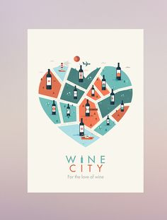 """I love the concept of this piece. """"For the love of wine"""" is one of the main concepts, and this illustration is a beautiful embodiment of those words."""