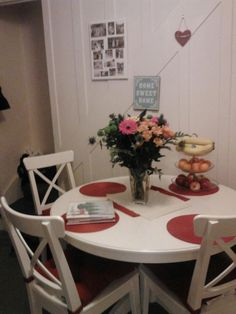 Finally I have my Ikea Liatorp table- love it! Liatorp, Ikea, Kitchens, Sweet Home, Table Settings, Dining Room, Furniture, Home Decor, Living Room