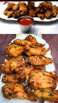 Crispy Air Fryer Fried Chicken Wings is the best quick and easy recipe that will teach you how to fry and make fried chicken in the Power XL, Nuwave, or any air fryer brand. This healthy fried chicken is also keto, low-carb, and gluten-free. #AirFryer #KetoAirFryerChicken #chicken #lowcarb #keto Healthy Fried Chicken, Air Fryer Fried Chicken, Making Fried Chicken, Fried Chicken Wings, Chicken Breasts, Yummy Chicken Recipes, Keto Recipes, Dinner Recipes, Cooking Recipes