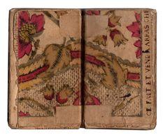 Papier dominoté utilisé pour le contre-plat et la garde volante. Impression de Paris, 1748. Il y a déjà plus d'un an que le livre de An...
