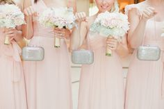 #clutch, #judith-leiber  Photography: onelove photography - onelove-photo.com  Read More: http://www.stylemepretty.com/california-weddings/2014/05/15/pink-and-gold-wedding-at-the-london-west-hollywood/