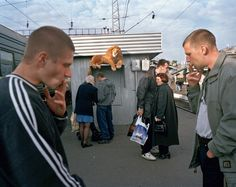 KRASNOYARSK, SIBERIA, RUSSIA. 2000. Released prisoners take the Transsiberian…