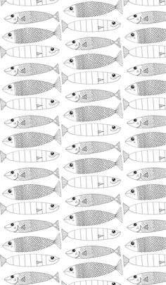 Fishy Doodle fabric by squidinkdesigns on Spoonflower - custom fabric