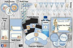 CLASSIC PETER RABBIT Party Printables by imaginedesigncre8 on Etsy