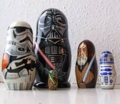Star Wars: Russian style nesting figures....well JuJu would like them...maybe...