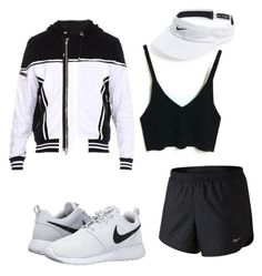 """Untitled #53"" by teranaharris on Polyvore featuring NIKE and Balmain"