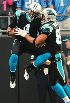 Cam Newton is such a big kid and Greg Olsen