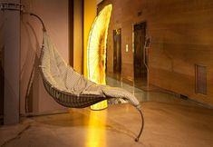 Entzuckend Der Designer Hängesessel Satala Aus Metall Balanciert Auf Einem Fuß