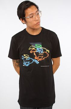 The Permanent Light Archive Neon Horse Racing in Black L|S|M